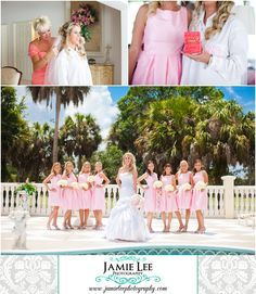Colonial Country Club | Fort Myers Wedding Photographer | Jamie Lee Photography | Preppy Wedding | Bride Getting Ready | Pink Bridesmaids Dresses