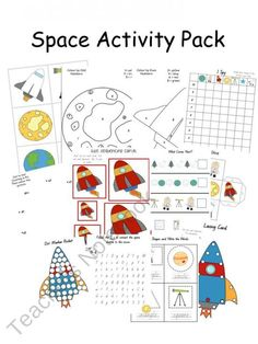 Space Activity Pack product from A-Moment-In-Our-World on TeachersNotebook.com