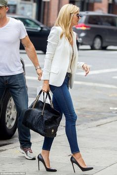 Image result for heidi klum blazer jeans