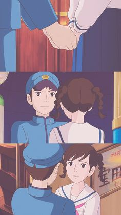 Studio Ghibli Art, Studio Ghibli Movies, Hayao Miyazaki, Up On Poppy Hill, Chihiro Y Haku, Anime Boy Zeichnung, Arte Disney, Anime Love Couple, Animation