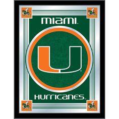 Miami Hurricanes Logo Wall Mirror