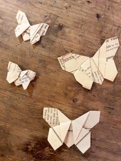 Experiment with a wide choice of book & vintage papers to make your origami pieces
