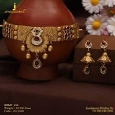 Celebrations with close golden bonds. Get In touch with us on Antique Jewellery Designs, Gold Earrings Designs, Gold Jewellery Design, Gold Designs, Henna Designs, Necklace Designs, Blouse Designs, Bridal Jewelry, Beaded Jewelry