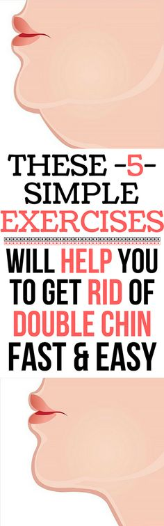 5 Simple Exercises That Will Help You Get Rid Of Double Chin - Solutions For Healthy Life Healthy Beauty, Health And Beauty, Healthy Tips, How To Stay Healthy, Healthy Meals, Healthy Nutrition, Double Chin Exercises, Cardiac Diet, Face Exercises