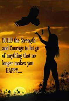 Build the strength and courage to let go.... quote life life quote inspirational quote inspiring quote wisdom quote