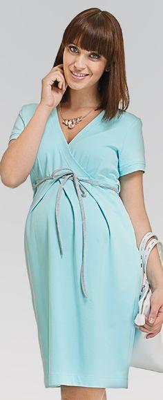 Comfy mint платье из хлопкового трикотажа для беременных и кормящих