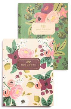 RIFLE PAPER CO 'Vintage Blossoms' Notebooks (Set of 2) - This is one of my favorite paper/stationary brand. They make wonderfully whimsical and unique designs/patterns, and I think a lot if not all of their items are made in the US.