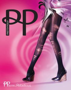 Pre-Ripped Tights are Rebellious- by Pretty Polly!