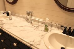 faux marble laminate countertops in a bathroom - Laminate Bathroom Countertops