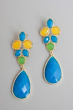 Color Block Teardrop Earrings