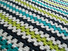 Mod Baby Stripe Blanket looking for ideas on backing this blanket! Come by my blog and check it out.