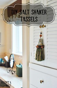 Salt Shaker Tassels DIY tassels celebrate who you are. Collect your favorite things through salt and pepper shakers, then use them to cozy up your home! www.huntandhost.com