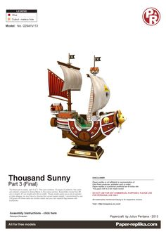 PaperToy - One Peace - Thousand Sunny Part 03 001