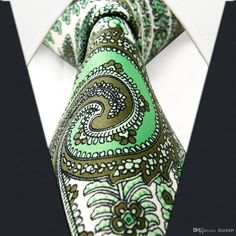 Green / White Floral - Neckties Only Collection
