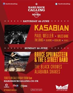 Hard Rock Calling 2013! Kasabian, Bruce Springsteen & the E Street Band. #hrcalling