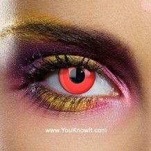 ca1e8390d12 Eye of Sauron 90 Day Reusable Red Yellow Coloured Contact Lenses