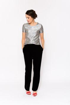 Hoys Velvet Pants Black