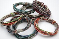 Fiona Wright, United Kingdom, Bracelets, newspaper