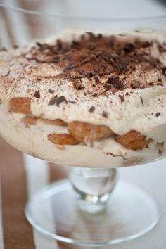Baileys tiramisu - So pretty and sooooo good! The Trifle Serving Bowl is stunning too! (download PDF recipe)