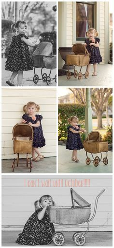 pregnancy announcement, unique pregnancy annoucement, big sister, rent my dust vintage rentals, antique baby carriage stroller, fun pregnancy announcement, different pregnancy annoucement ideas