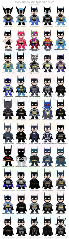 INFOGRAPHIC: The Evolution of the Batsuit | Moviepilot: New Stories for Upcoming Movies. For Jennifer and Stephanie! Lol