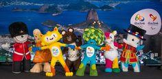 Vinicius,Tom e os outros mascotes olímpicos