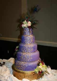 Purple Peacock Cake.