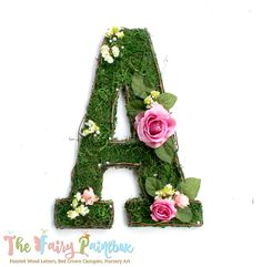 "Thanks for the kind words! ★★★★★ ""GORGEOUS!!!"" christinamariecosta https://etsy.me/2jgRrAZ #etsy #housewares #homedecor #green #babyshower #pink #entryway #woodletters #fairynursery #woodlandnursery"