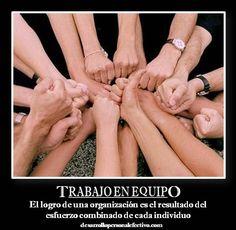 ¡trabajar en equipo! =)