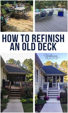 How to refinish an old wooden deck: Review of Rustoleum RockSolid 20x Deck Resurfacer to fill in splinters and cracks