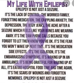 Seizures, Epilepsy, Like You, Depression, Anxiety, My Life, Medical, Feelings, Anxiety Awareness