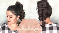 Fishtail Ponytail, Fishtail Braid Hairstyles, Curled Hairstyles, Easy Hairstyles, Hair Inspo, Hair Inspiration, Ponytail Tutorial, Simple Ponytails, Short Hairstyles For Women