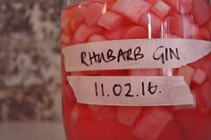 Bright pink Rhubarb Gin #rhubarb #gin #pinkgin www.ontheinsideandout.co.uk