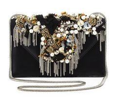 Saint Laurent Betty Borsa Mini-Embellished Shoulder Bag: Trash and Vaudeville