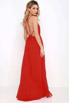 Comet's Tale Red Maxi Dress at Lulus.com!