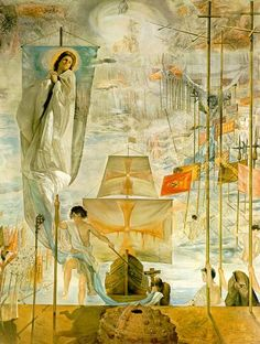 "Salvador Dali (1904-1989) ""The Discovery of America by Christopher Columbus"" (1958-1959) #DALI"