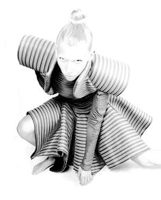 Ann Christensen by Francesco Laera || Samurai dress, Gareth Pugh's limited edition Fall/Winter 2008-2009