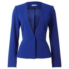 Love this jacket from Target: City Dressing Collarless Peplum Jacket - Blue