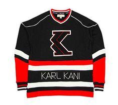 Karl Kani Designer Trademark T-Shirt WHITE Embroidered Official Tee 90/'s NWT