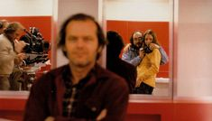 """The Shining""  Kubrick and his daughter or niece (can't remember which). She documented the work behind the scenes. 