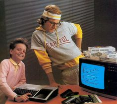 vintage everyday: Open-Mouthed Wonderment in '80s Tech Adverts: 14 Ads With People Getting Way Too Excited About Computers