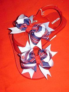 4th of July Flip Flops. Fun idea!