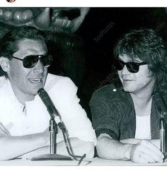 Alex and Eddie Van Halen ❤️ Love this picture!!