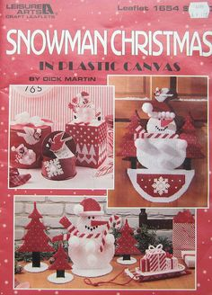 Snowman Christmas Plastic Canvas Pattern Book by TheHowlingHag