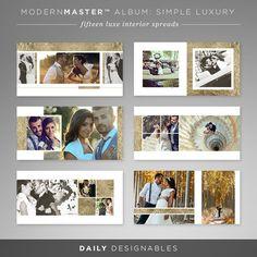 luxurious and versatile photographer album template for wedding, engagement, boudoir, newborn, family #photographer albums. part of member access unlimited downloads on http://www.dailydesignables.com/