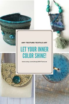 Don't settle for mass-produced fashion! Buy something unique because you are special! #textileart #wearableart #anytexture #etsystore #bohoaccessories #uniqueaccessories