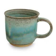 Handmade Ceramic Mug, 'Earth and Sky' (Thailand)