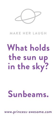 Silly sun pun!  Gotta love space jokes.