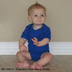 Royal Blue Onesie - Short Sleeve