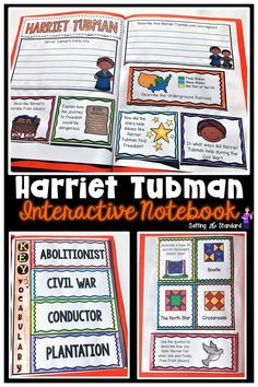 Celebrate Black History month or Women's History Month with this Interactive Notebook about Harriet Tubman. Students scan QR codes to find passages that tell about Harriet Tubman's life and the importance of the Underground Railroad. Students will use this information to build their interactive notebook.  Key vocabulary included too! Perfect for 3rd, 4th, & 5th Grade.